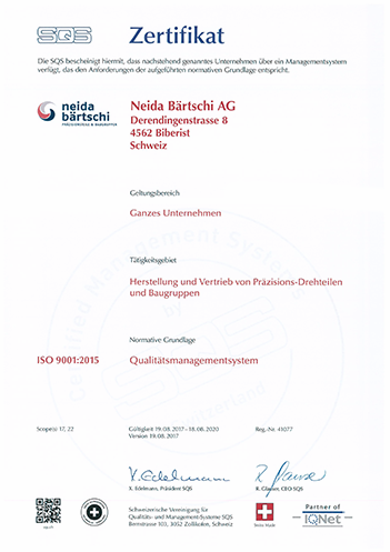 Zertifikat SQS