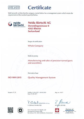 Certificate SQS