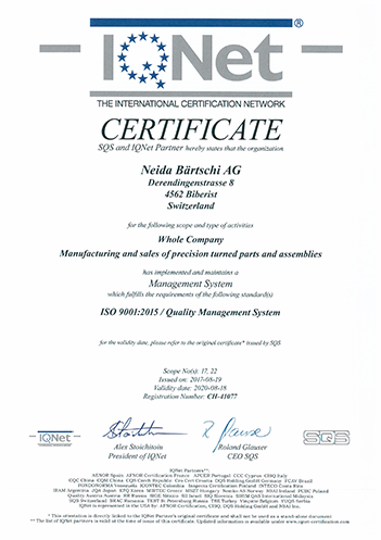 Certificate IQNet